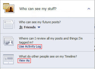 New Facebook Privacy Shortcut added