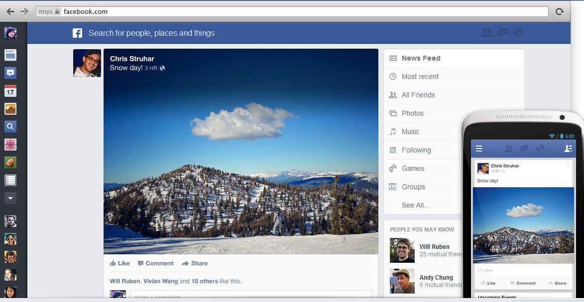 New Facebook News Feed 4