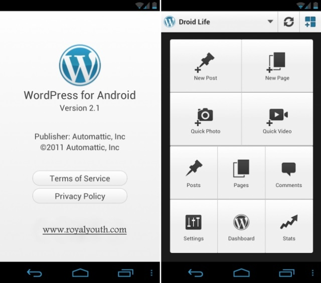 WordPress-Cool Android Apps for Bloggers