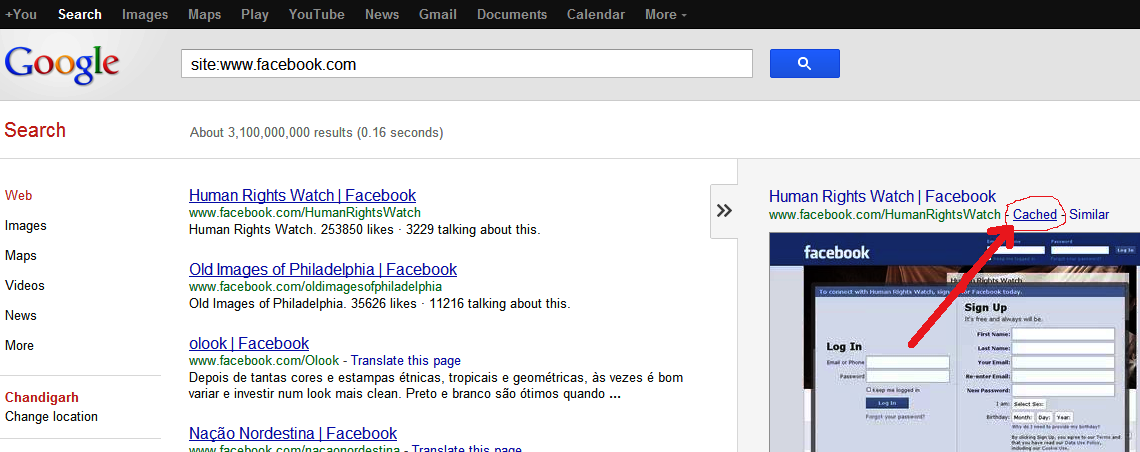 how to get google cache of website