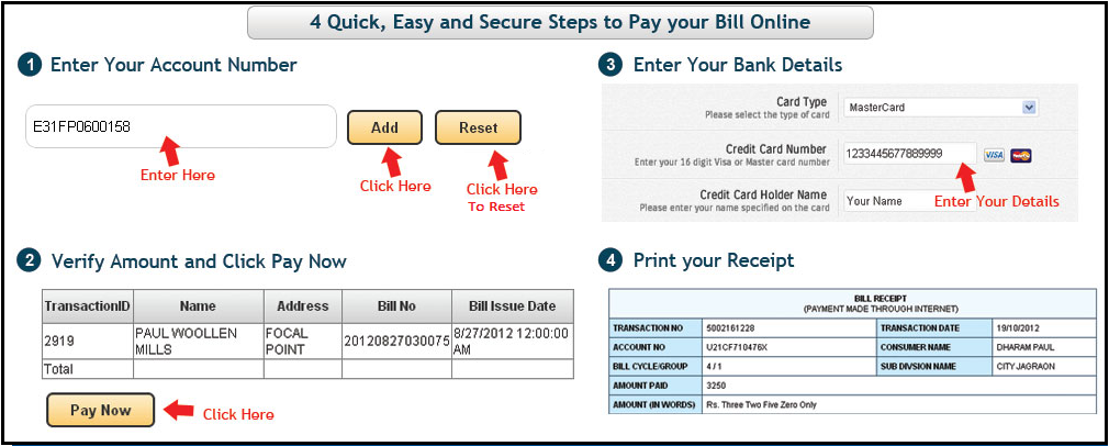 Steps to Pay Electricity Bill Online in Punjab