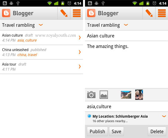 Blogger Cool Android Apps