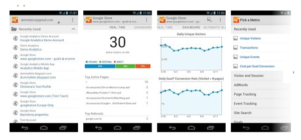 Google Analytics Cool Android Apps