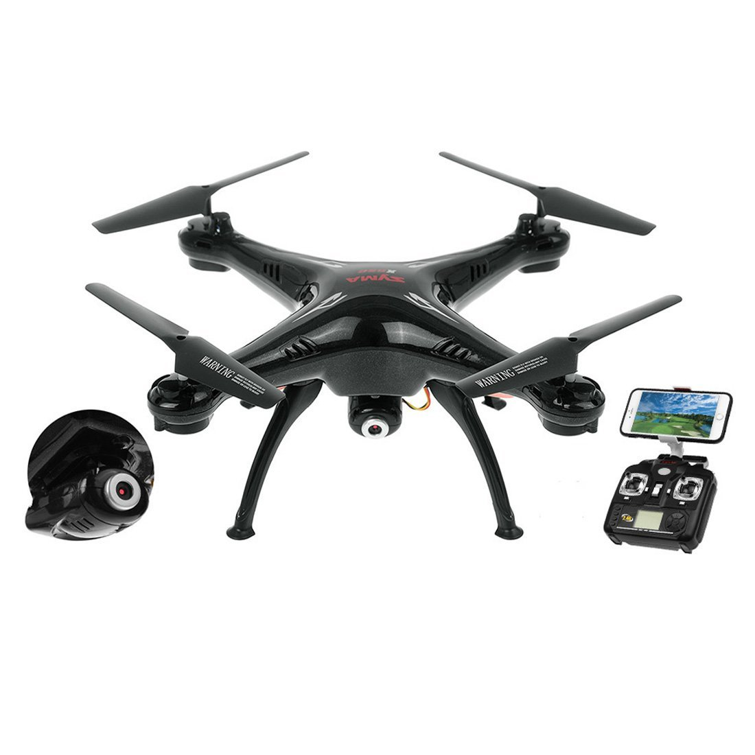Syma X5SW Axis Gyro RC Headless Quadcopter With Wifi Camera (FPV) Drone