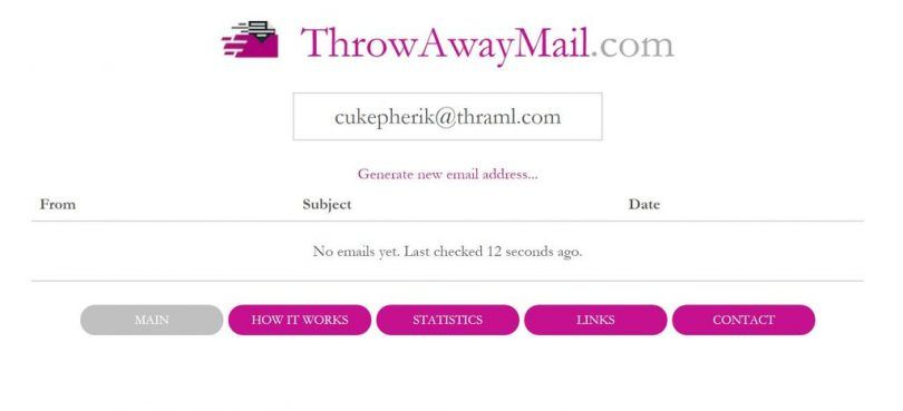 Free Disposable Temporary Email Address Providers